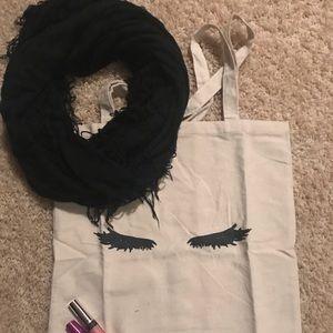 Accessories - Women's black fringe infinity scarf